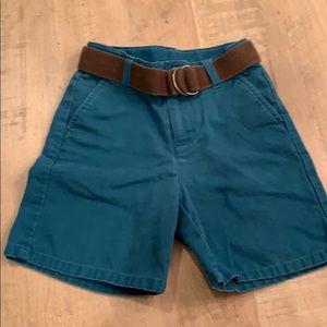 Janie and Jack Teal Shorts w/ Belt